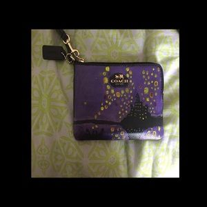 Painted coach tangled wristlet